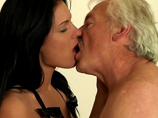 Slutty Teen Having Sex With An Old Guy