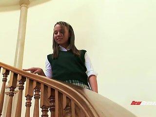 Cute School Girl Got Huge Cock In Her Hole